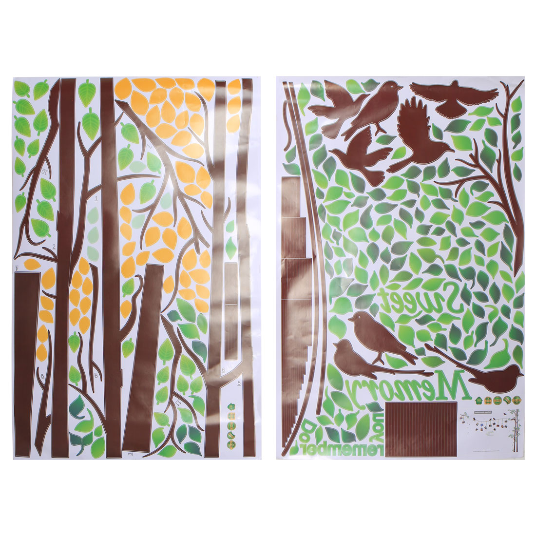 Tree Pattern Wall Sticker Self-stick Removable Decal for Living Room