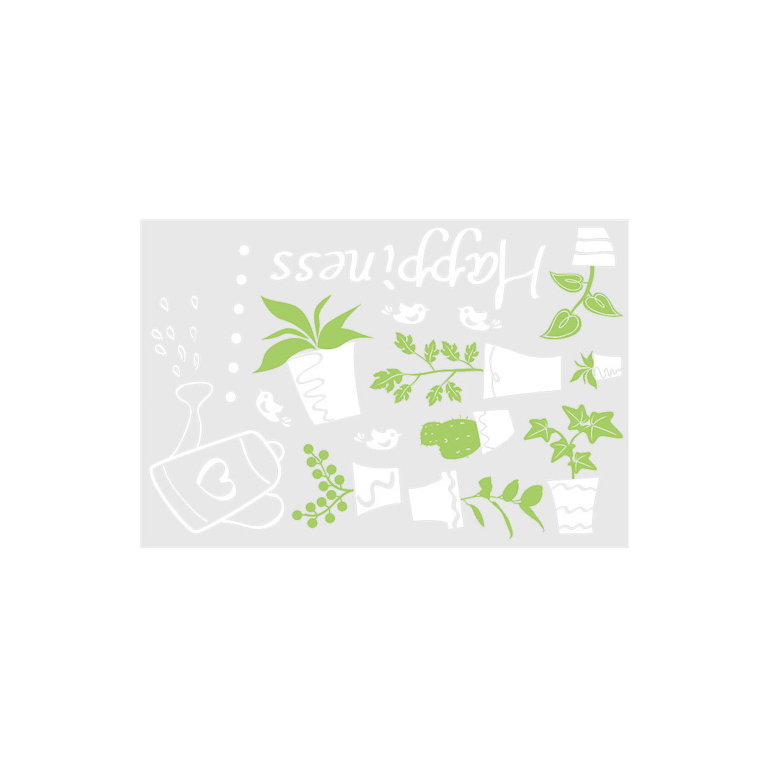 Potted Plant Pattern Wall Sticker Self-stick Removable Decal for Living Room