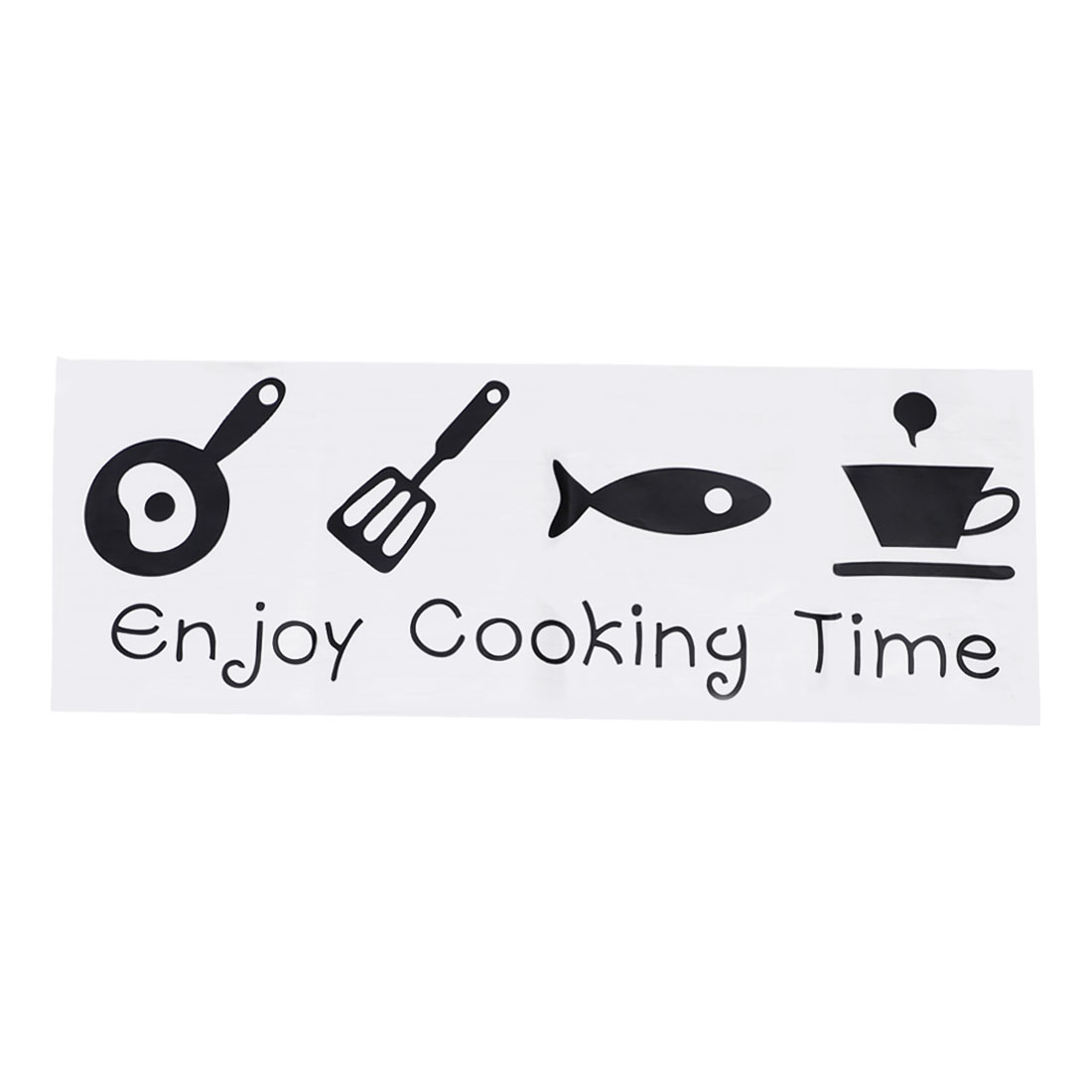Letter Enjoy Cooking Time Wall Stickers Removable Paper Decal for Bedroom