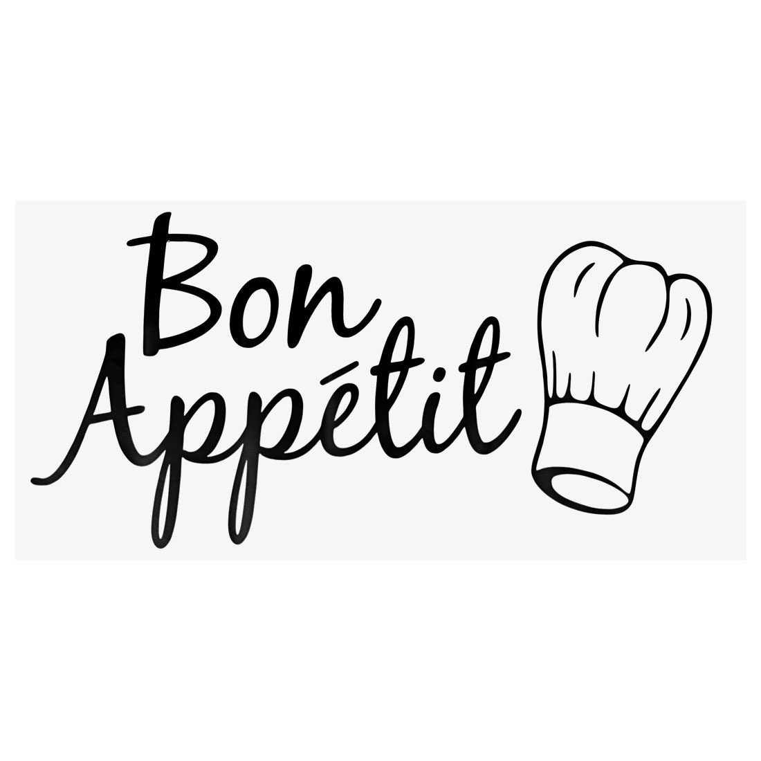 Black Great Appetite Artificial Wall Sticker Self-stick Decal for Dining Room