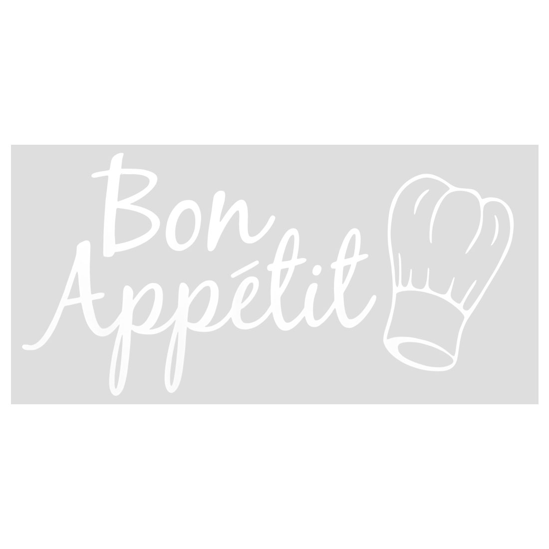 White Great Appetite Artificial Wall Sticker Self-stick Decal for Dining Room