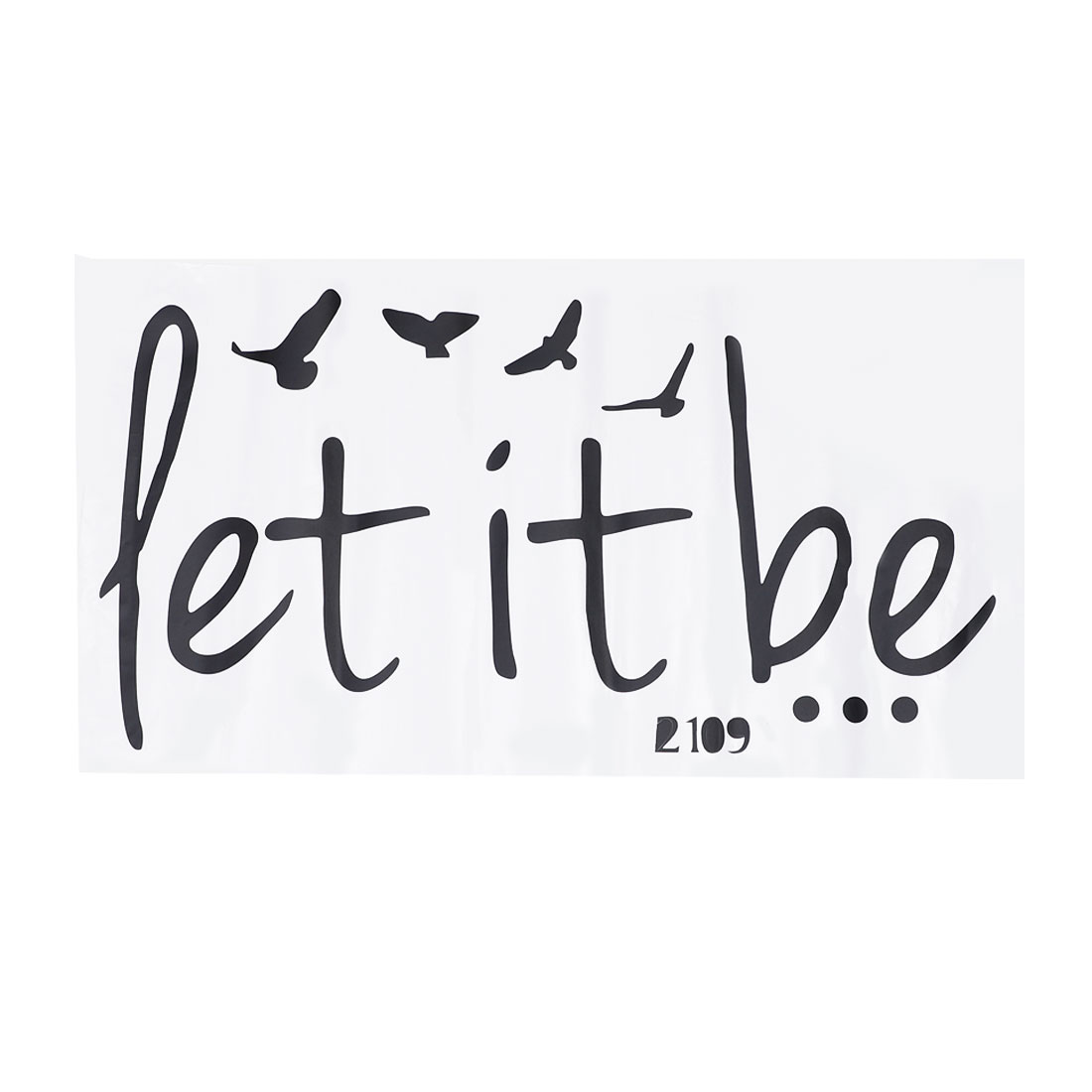 Let It Be Self-stick Wall Stickers Artificial Decal for Bedroom