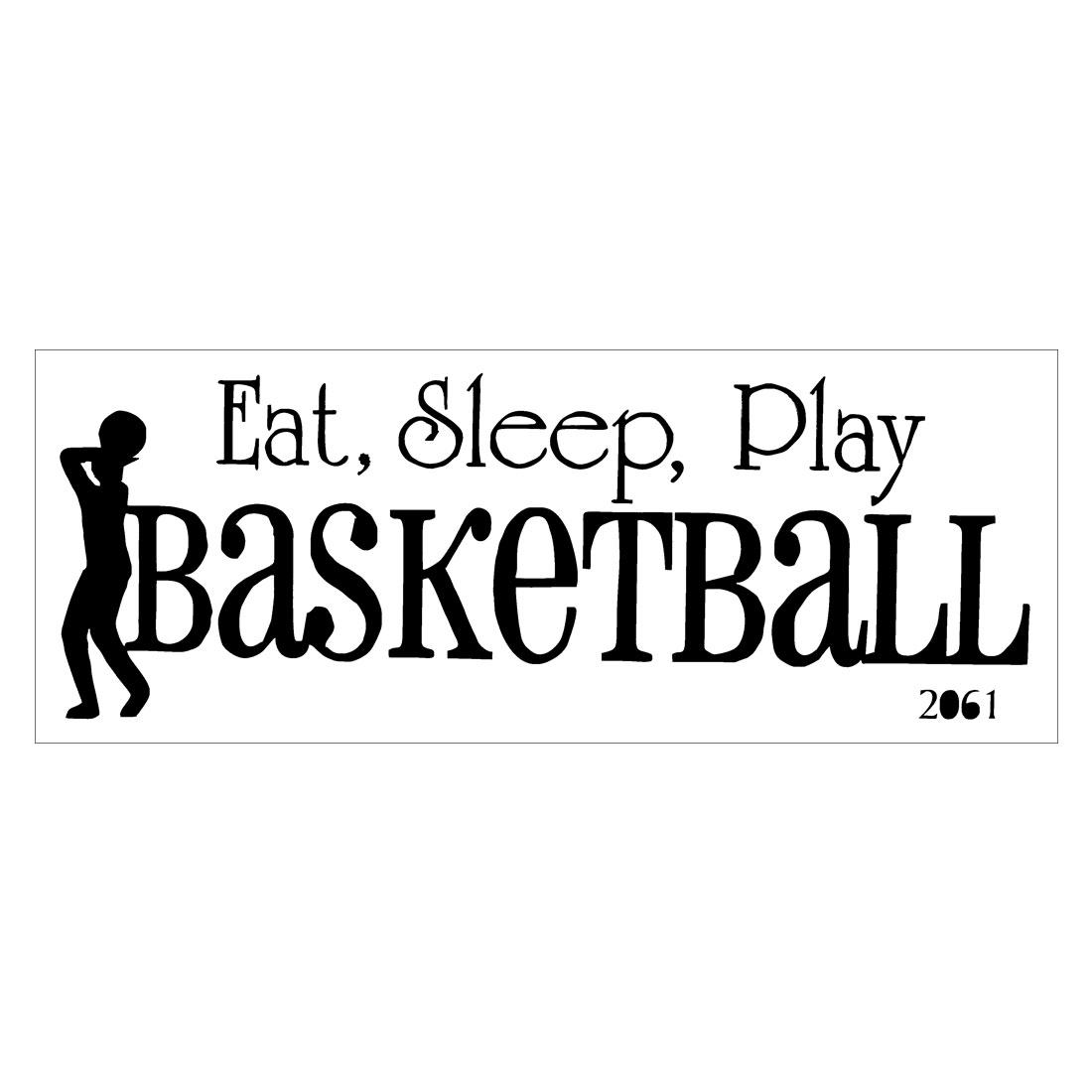 Eat Sleep Play Basketball Self-stick Wall Stickers Artificial Decal for Bedroom