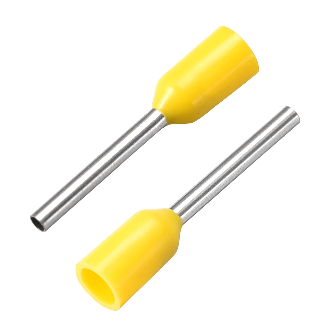 VE1510 Cord Pin End Wire Connector Electrical Crimp Terminal AWG16 Yellow 100Pcs