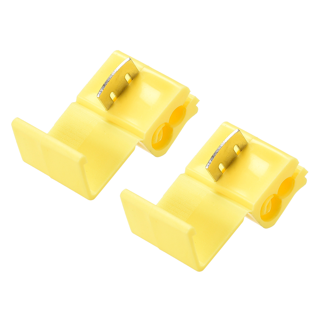 Wire Splice Connector Snap Wire Connector Yellow for 12-10 AWG 2 Pcs