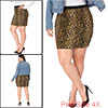 Agnes Orinda Women Plus Size Leopard Prints Elastic Waist Pencil Skirt 4X Brown