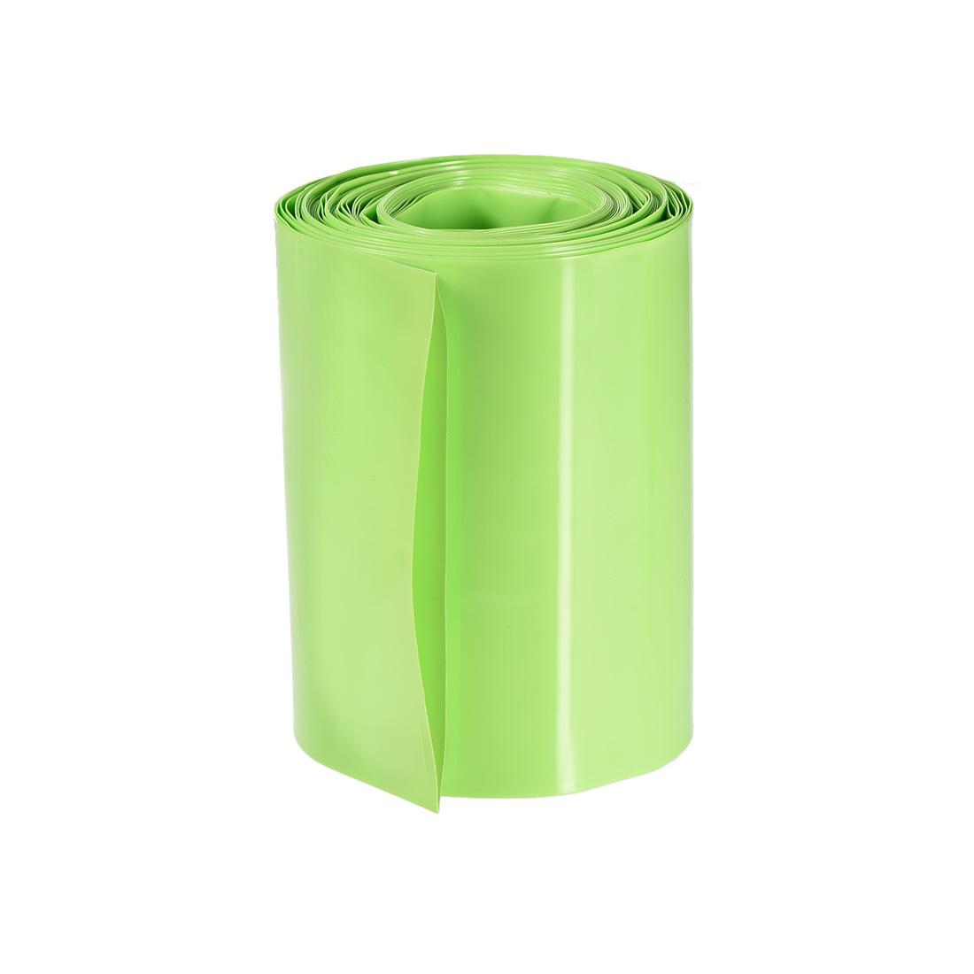 PVC Heat Shrink Tubing 70mm Flat Width Heat Shrink Wrap Tube Green 5M Length