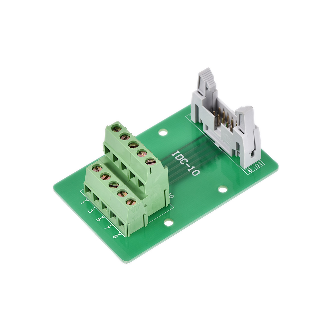IDC-10 Horns Seat Female 10 Positions Terminal Connector Signal Module Green