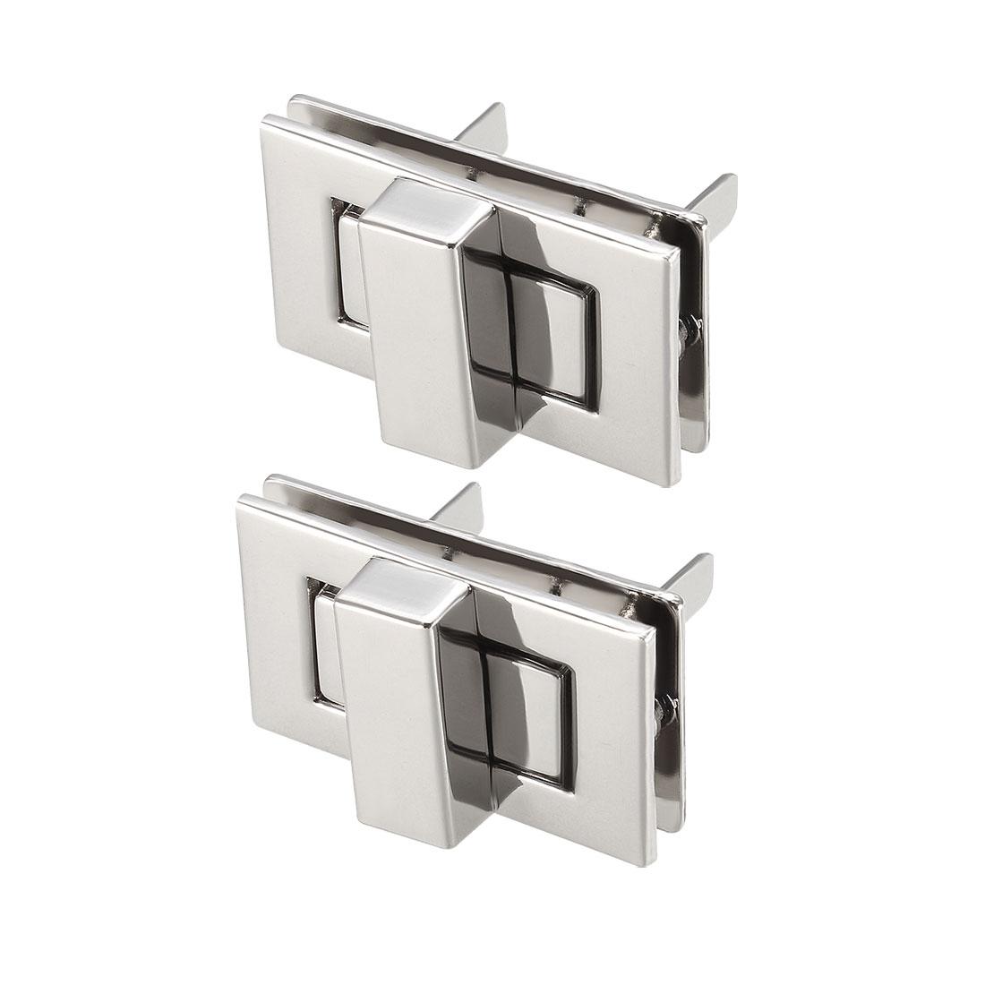 2 Sets Rectangular Purses Twist Lock 32mm x 20mm Clutches Closures - Silver