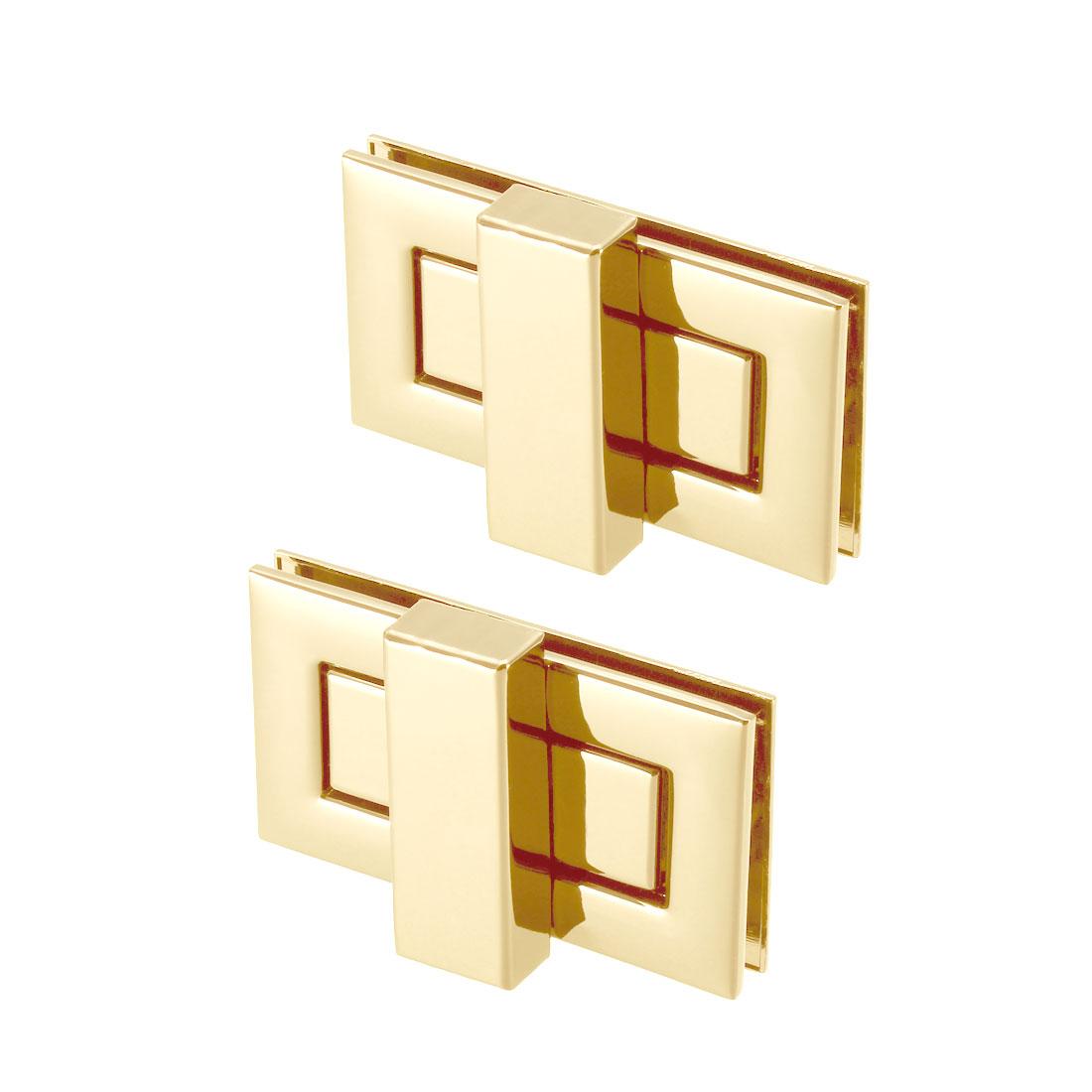 2 Sets Rectangular Purses Twist Lock 52mm x 29mm Clutches Closures - Light Gold
