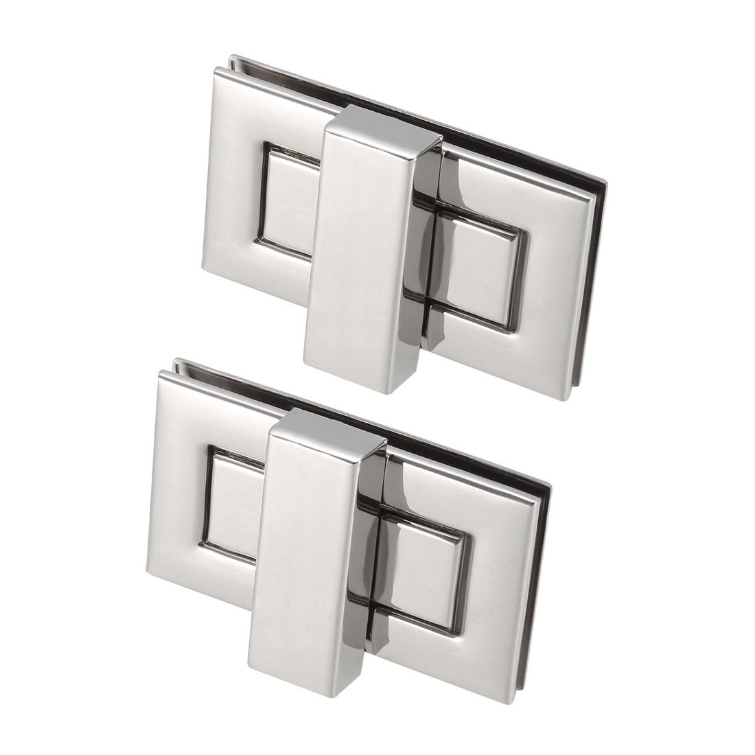 2 Sets Rectangular Purses Twist Lock 52mm x 29mm Clutches Closures - Silver