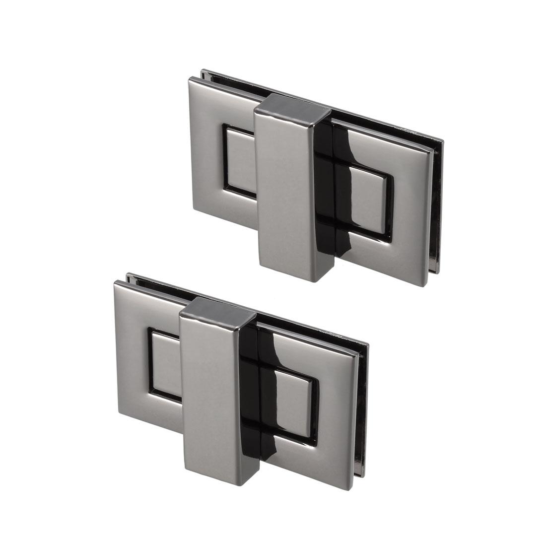2 Sets Rectangular Purses Twist Lock 52mm x 29mm Clutches Closures - Black