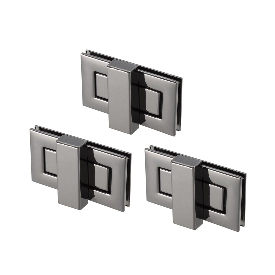 3 Sets Rectangular Purses Twist Lock 52mm x 29mm Clutches Closures - Black