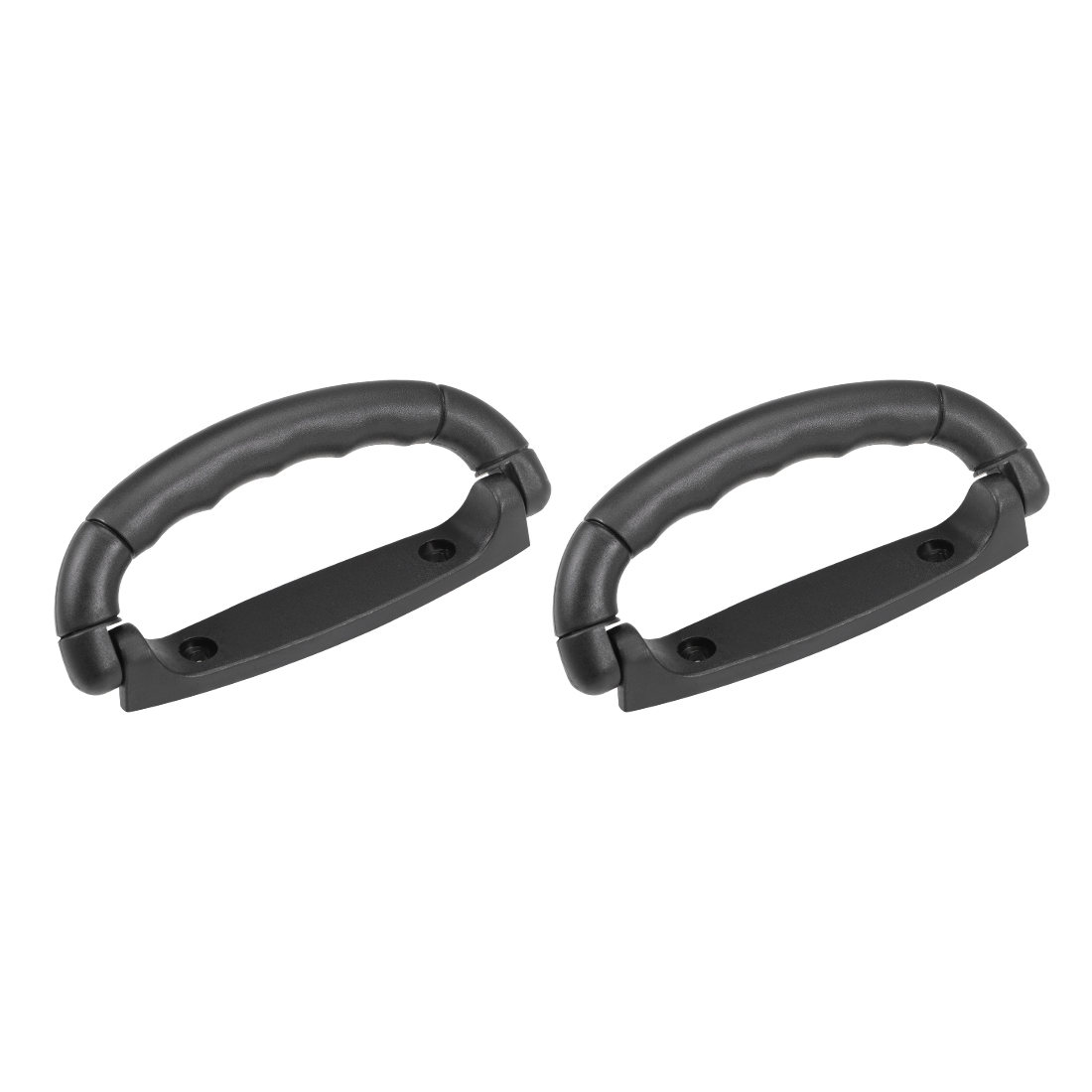 Luggage Handle Pull Plastic 4.92-Inch Length Suitcase Handle Grip Black 2 Pcs