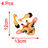 4pcs Deer Pattern PVC Switch Wall Sticker Bedroom Removable DIY Decal Decoration