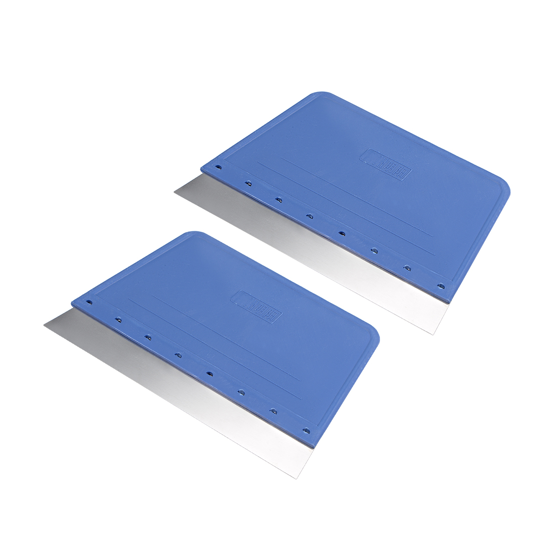 2x Scraper Board 173mm Carbon Steel Blade Plastic Handle Taping Surface Cleaning
