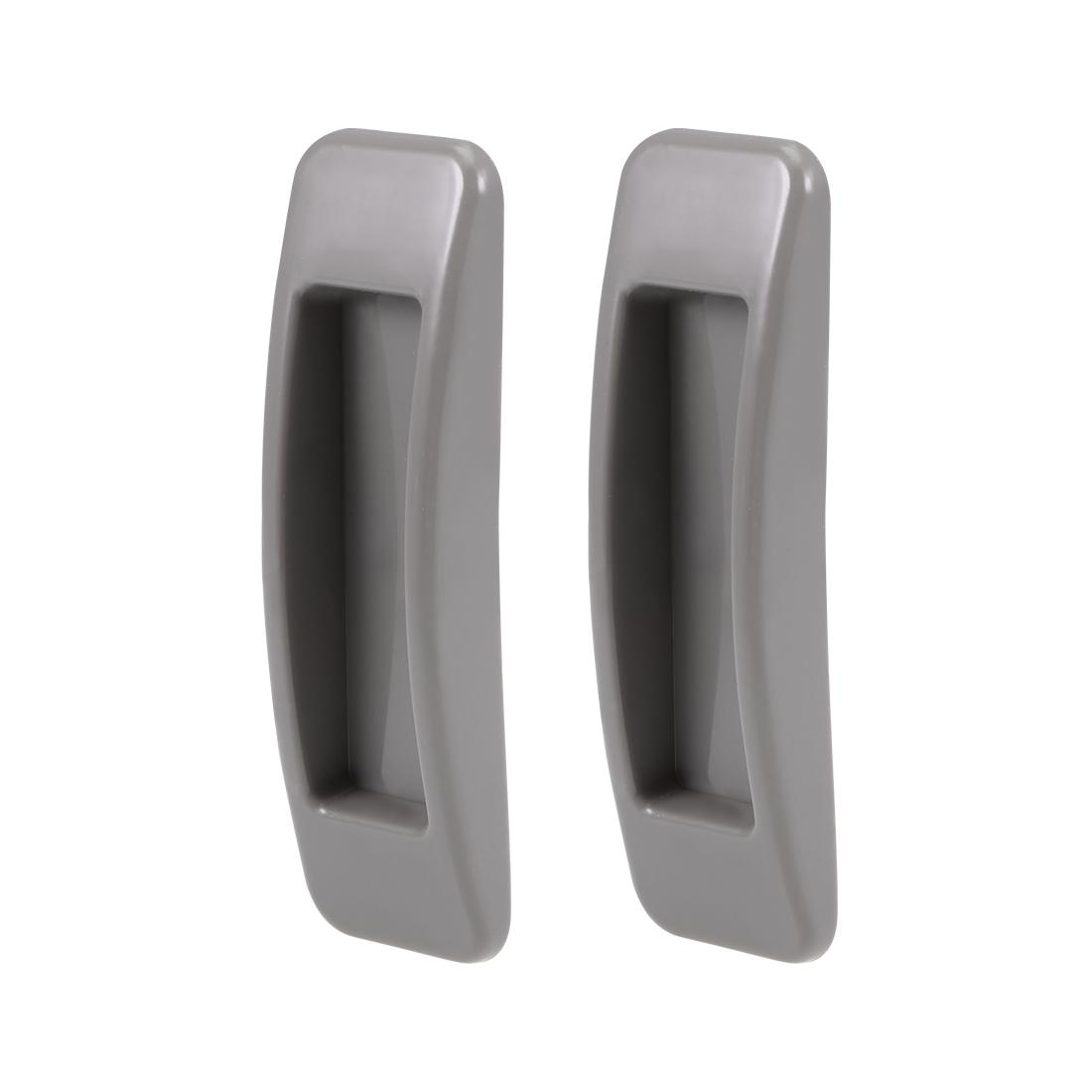 Self-Stick Pull Handle Stick-on Handles for Door Window ABS Plastic Grey 2 Pairs