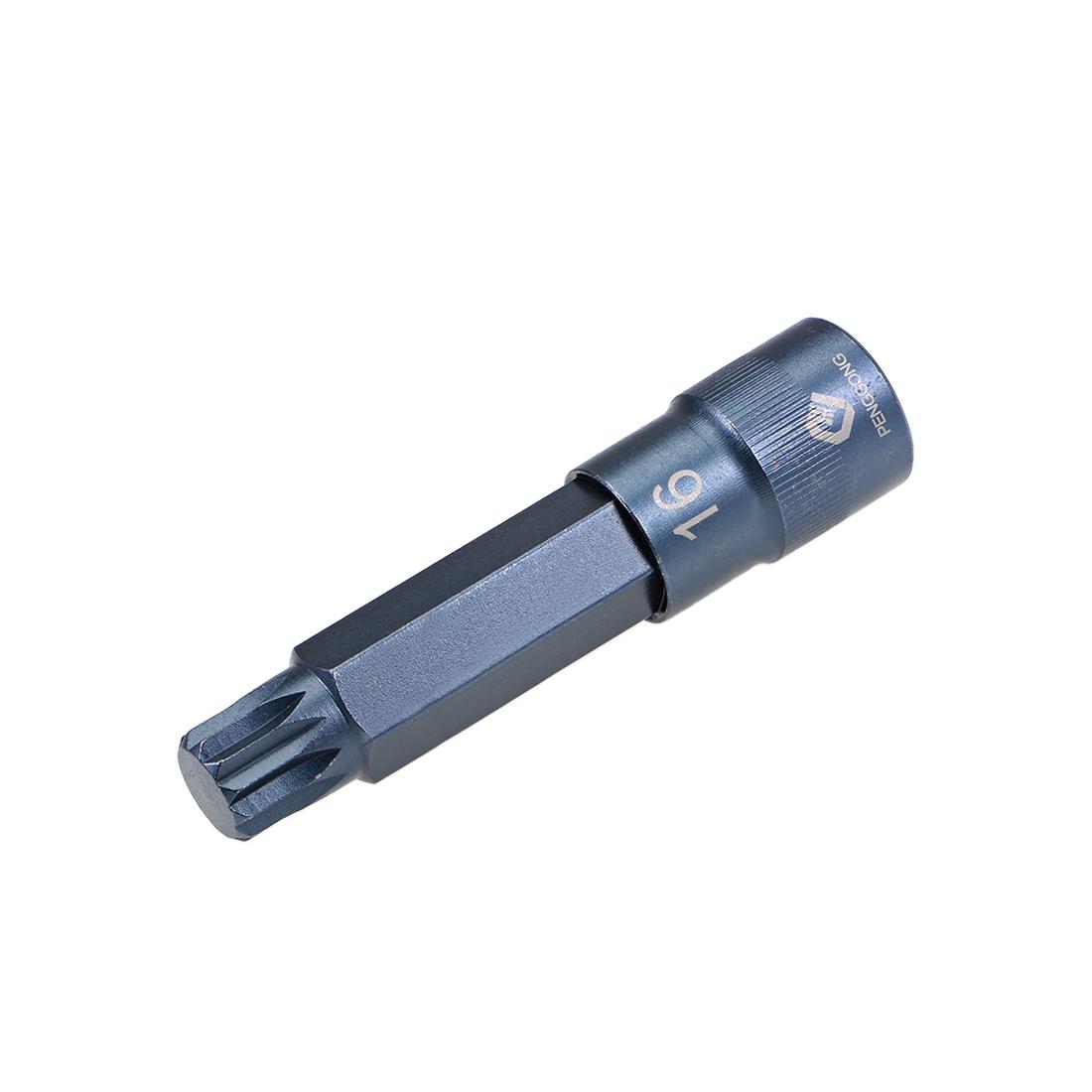"1/2-Inch Drive x M16 Triple Square Spline Bit Socket, Metric 4"" Length"