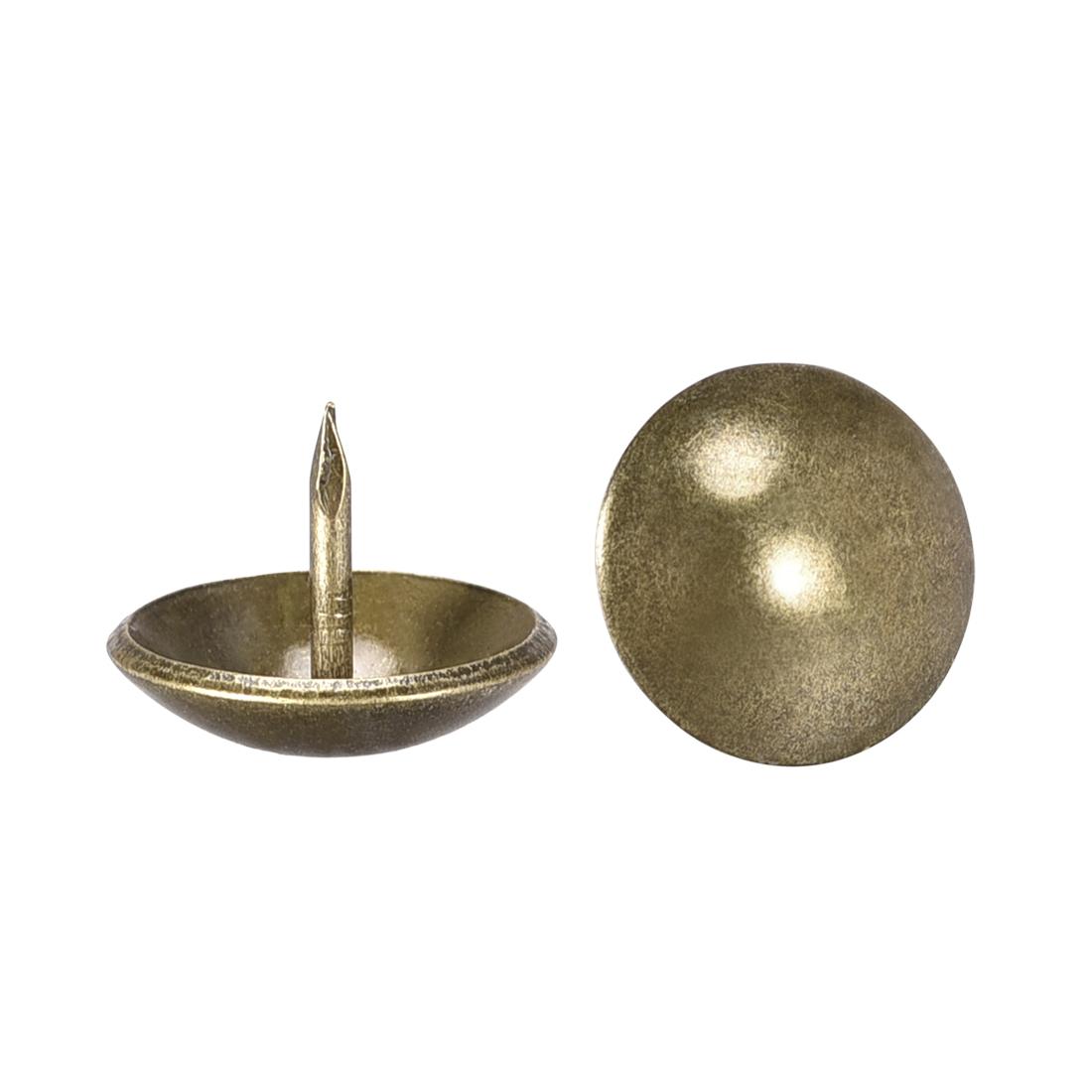 Upholstery Nails Tacks 19mm Dia 15mm Height Round Push Pins Bronze Tone 80 Pcs