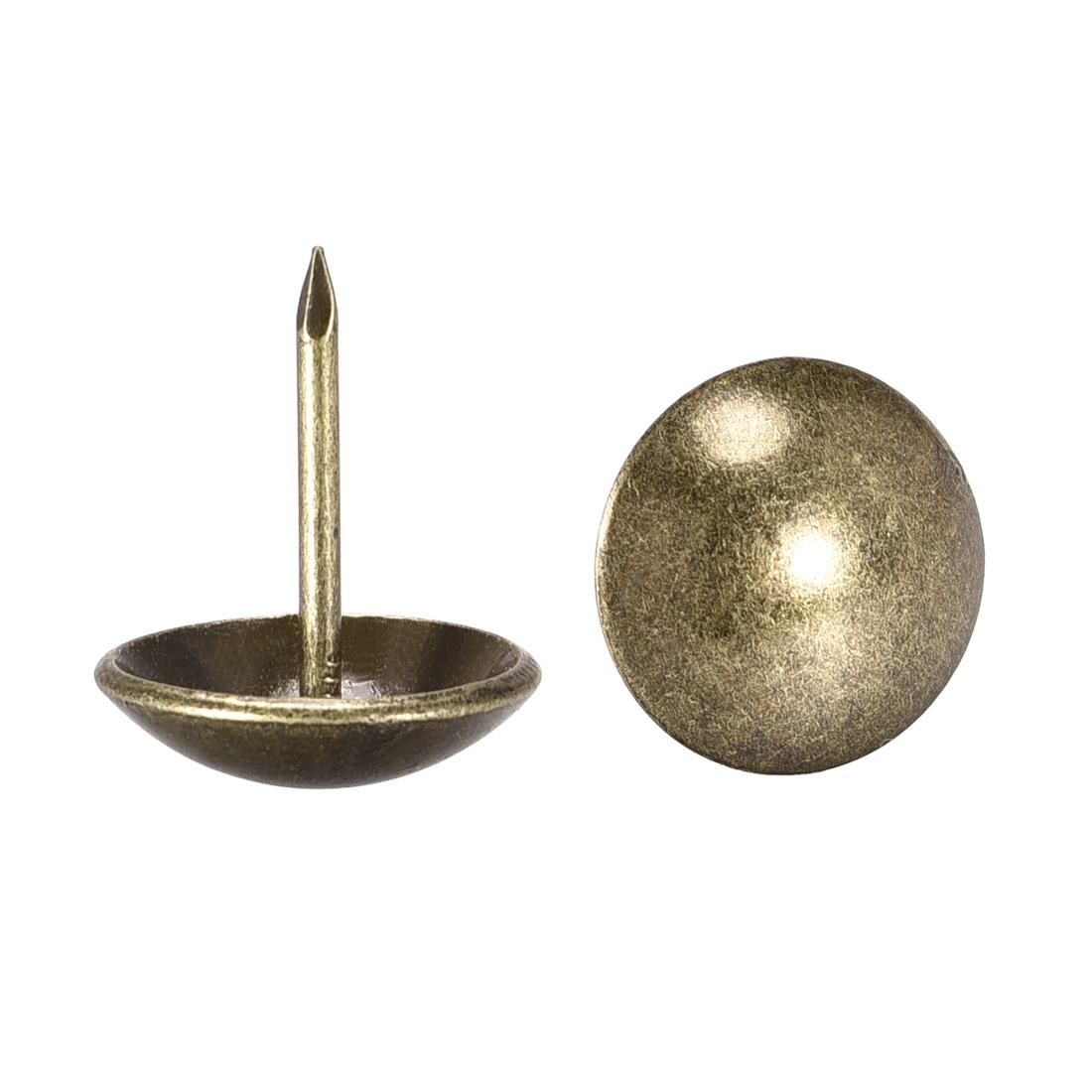 Upholstery Nails Tacks 19mm Dia 23mm Height Round Push Pins Bronze Tone 80 Pcs