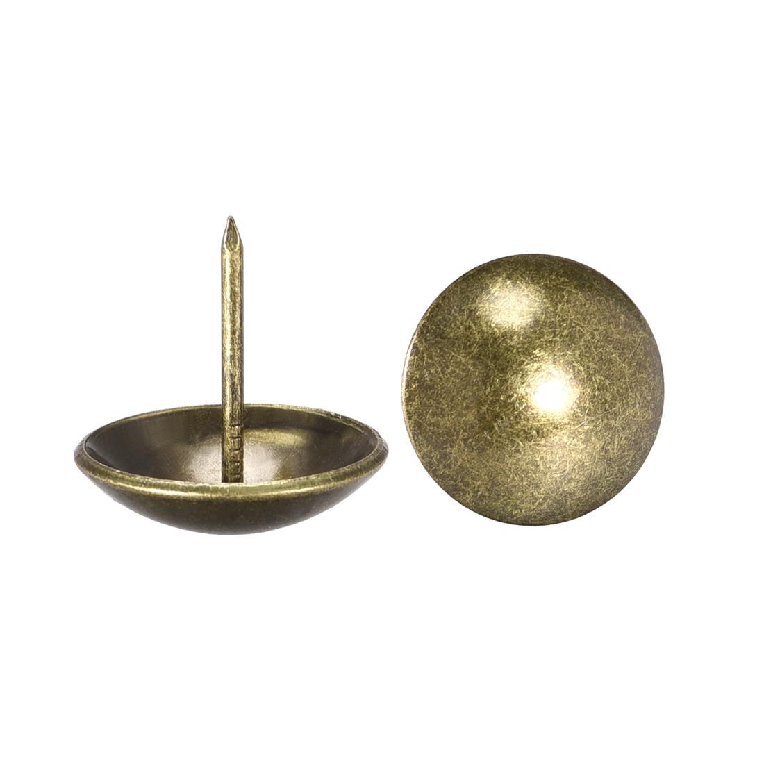 Upholstery Nails Tacks 25mm Dia 25mm Height Round Push Pins Bronze Tone 20 Pcs
