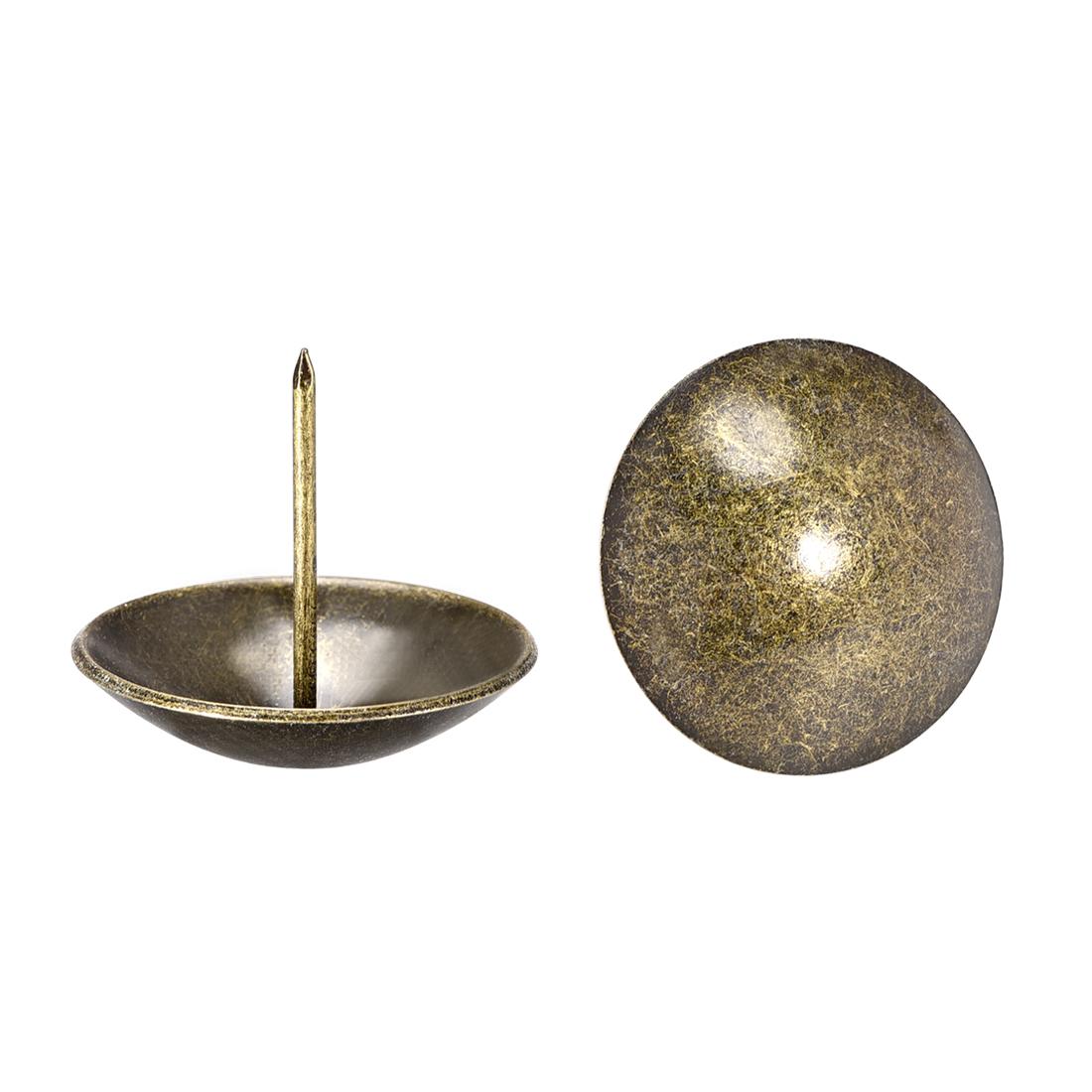 Upholstery Nails Tacks 40mm Dia 37mm Height Round Push Pins Bronze Tone 10 Pcs