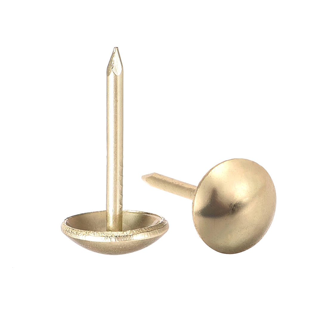 Upholstery Nails Tacks 9mm Dia 17mm Height Round Push Pins Gold Tone 30 Pcs