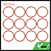 50pcs Red Universal Silicone O-Ring Sealing Washer Gasket for Car 30mm x 2.4mm