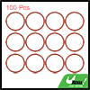 100pcs Red Universal Silicone O-Ring Sealing Washer Gasket for Car 30mm x 2.4mm