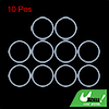 10pcs 33x2.4mm White Silicone Universal O-Ring Seal Washer Gasket for Car