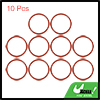 10pcs 35x2.4mm Red Silicone Universal O-Ring Seal Washer Gasket for Car