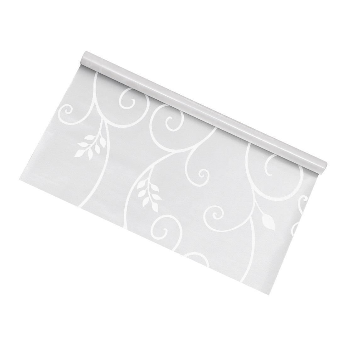PVC 78.7 x 17.7 Inch Anti UV Window Film Sticker White Flower Vine