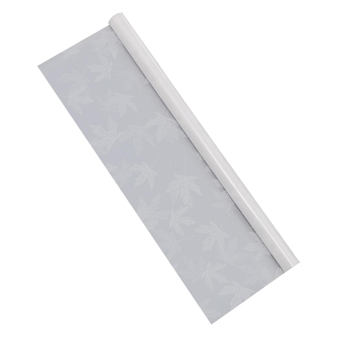 PVC 78.7 x 17.7 Inch Anti UV Window Film Sticker White Maple Leaf