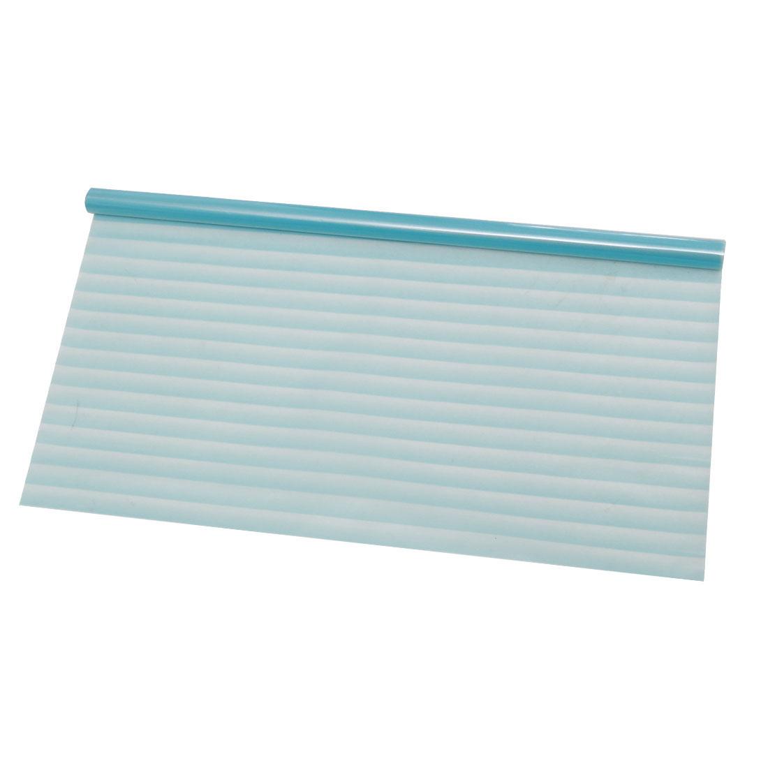 PVC 23.6 x 78.7 Inch Privacy Anti UV Glass Window Film Sticker Solid Blue