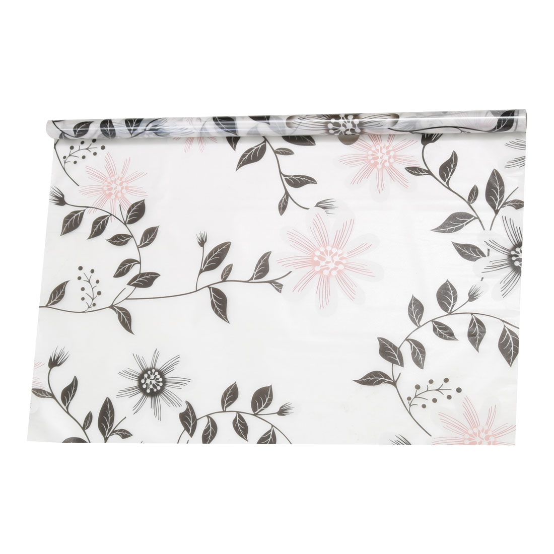 PVC 23.6 x 78.7 Inch Anti UV Glass Window Film Sticker Delicate Flower Pattern