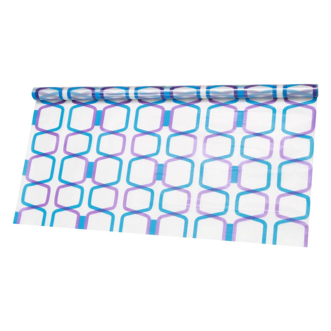 PVC 23.6 x 78.7 Inch Anti UV Glass Window Film Sticker Diamond Pattern