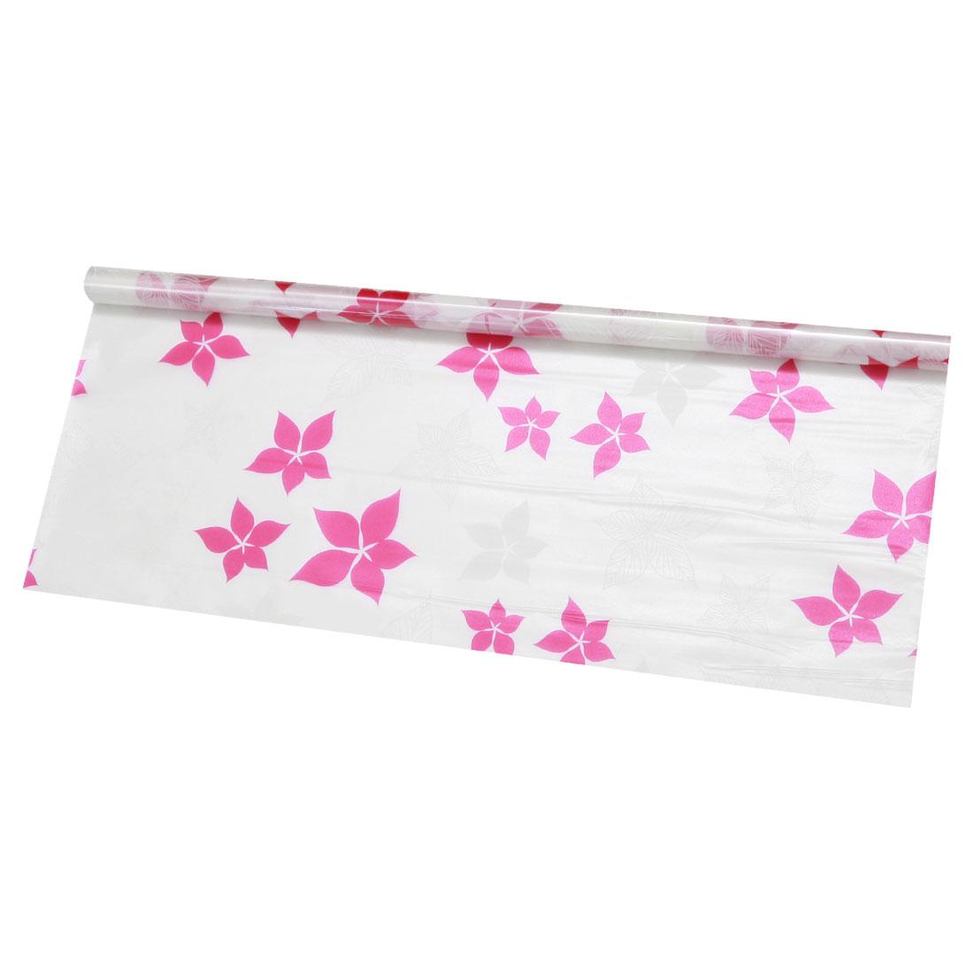 "Self-sticky 23.6"" x 78.7"" Water Resistant Window Film Pomegranate Flower Pattern"