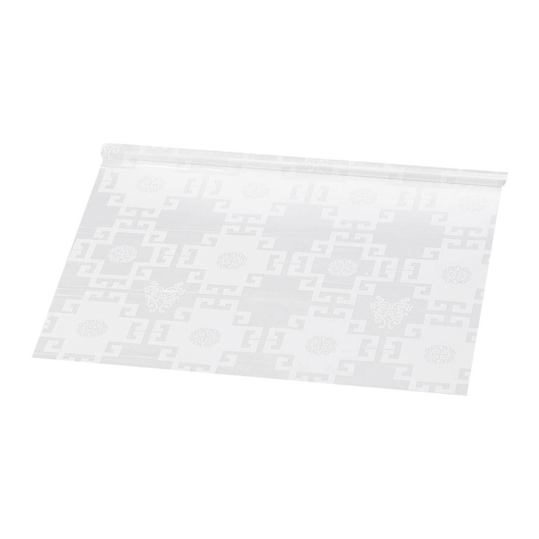"Self-sticky 23.6"" x 78.7"" Water Resistant Window Film Retro Building Pattern"