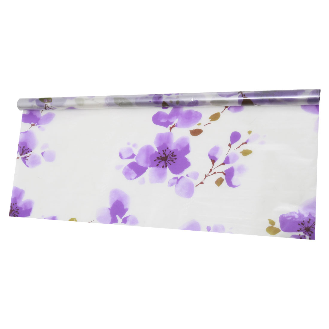 "Self-sticky 23.6"" x 78.7"" Water Resistant Window Film Purple Plum Pattern"