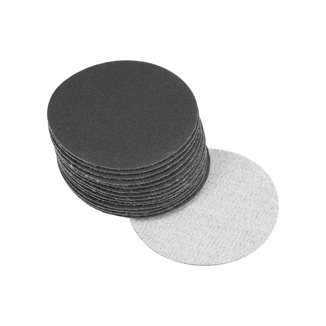 2 inch Wet Dry Discs 320 Grit Hook and Loop Sanding Discs Silicon Carbide 15pcs