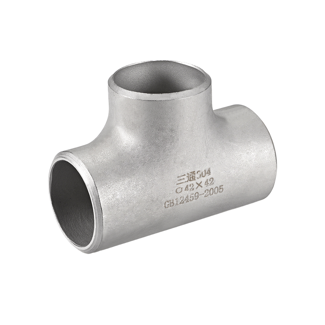 Stainless Steel 304 Pipe Fitting 35mmx38mmx35mm Tee Shaped Connector Coupler