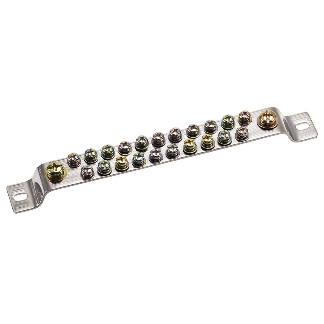 Copper Screw Terminal Block Bar 100A Double Row Bridge Shape 23 Positions