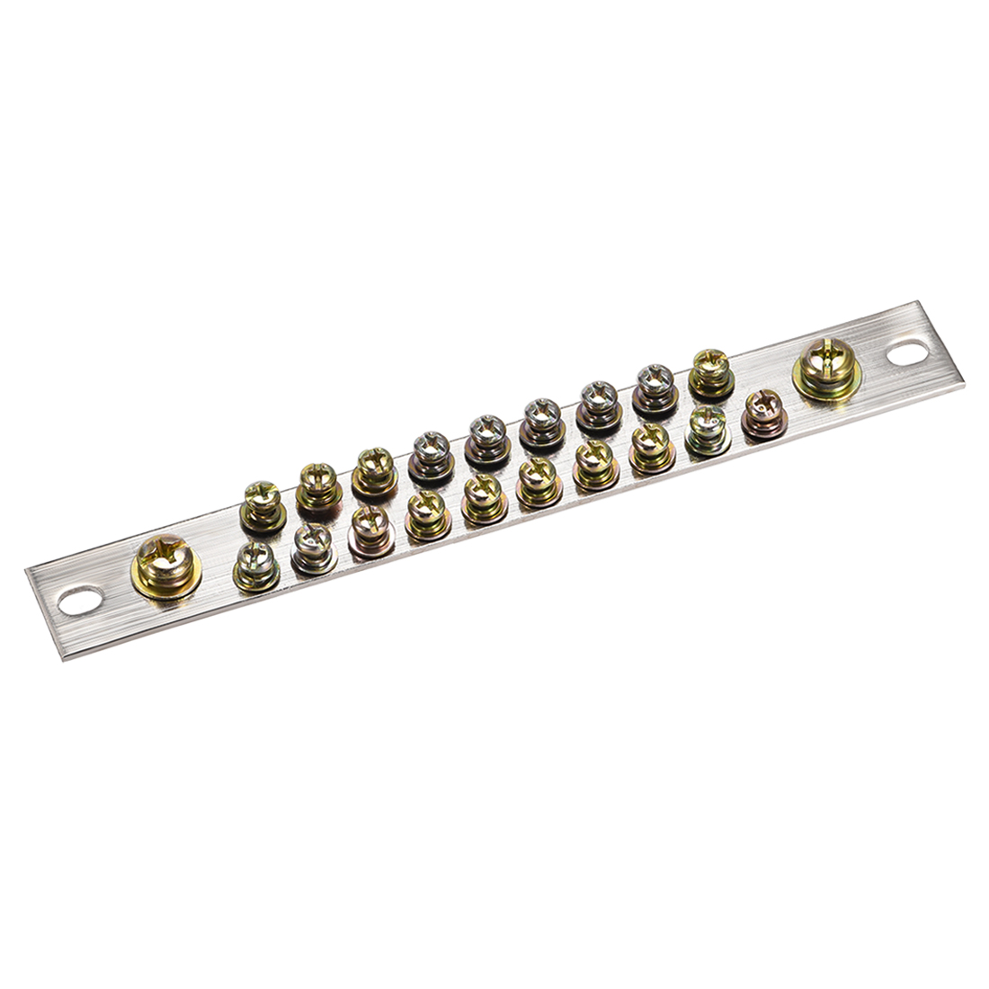 Copper Screw Terminal Block Connector Bar 100A Ground Wire 21 Positions