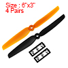 "4 Pairs RC Propellers 6030 6x3"" CW CCW for RC Quadcopter Hexacopter Black Orange"