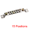 Copper Screw Terminal Block Bar 100A Double Row Bridge Shape 15 Positions