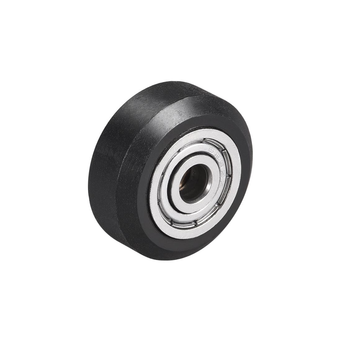 POM V Wheel with Bearing for 3D Printer RepRap, Ender 3, CR Series OD 24mm
