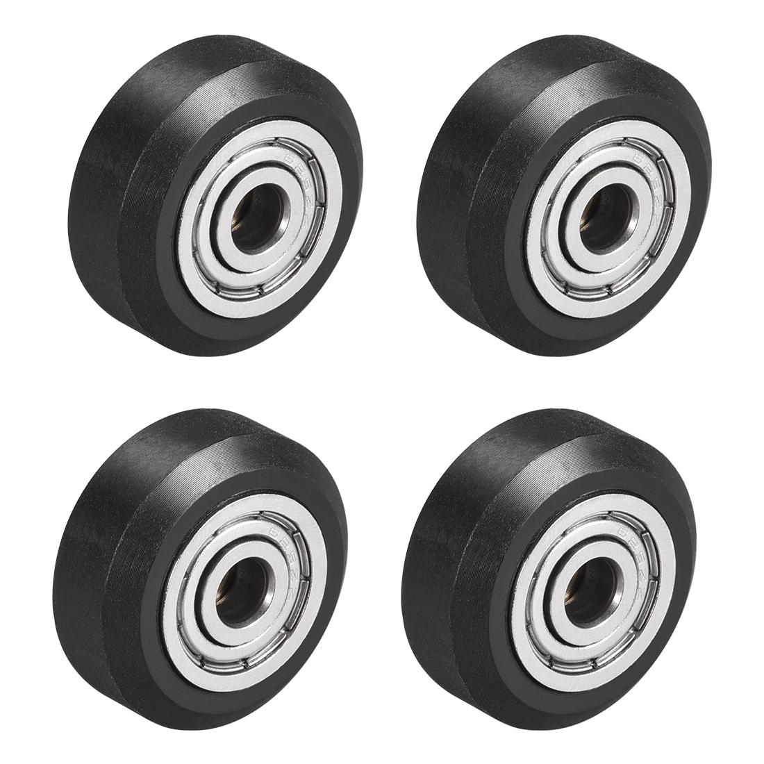 POM V Wheel with Bearing for 3D Printer RepRap, Ender 3, CR Series OD 24mm 4pcs