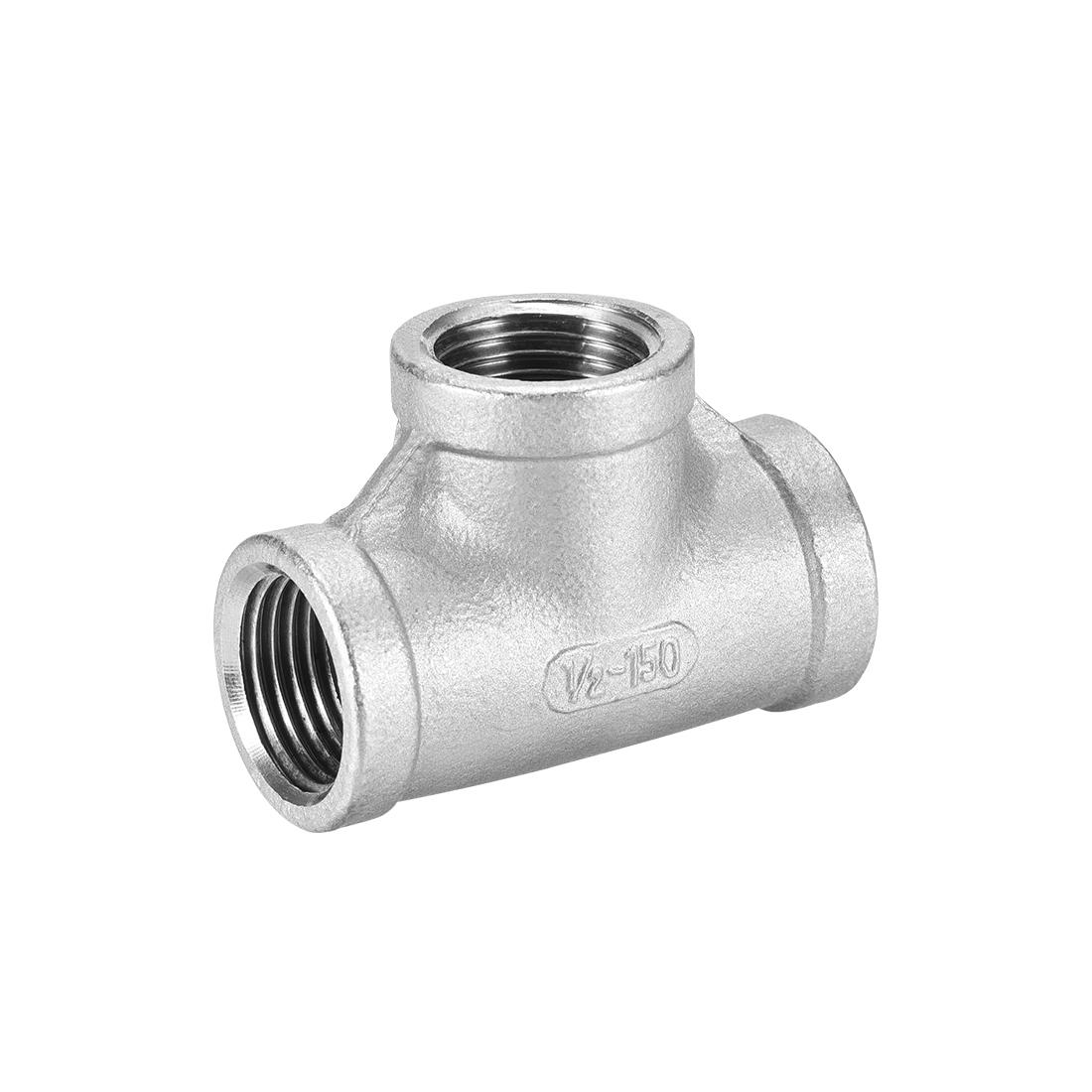 Stainless Steel 304 Pipe Fitting 1/2BSPT Female Class 150 Tee Shaped Connector