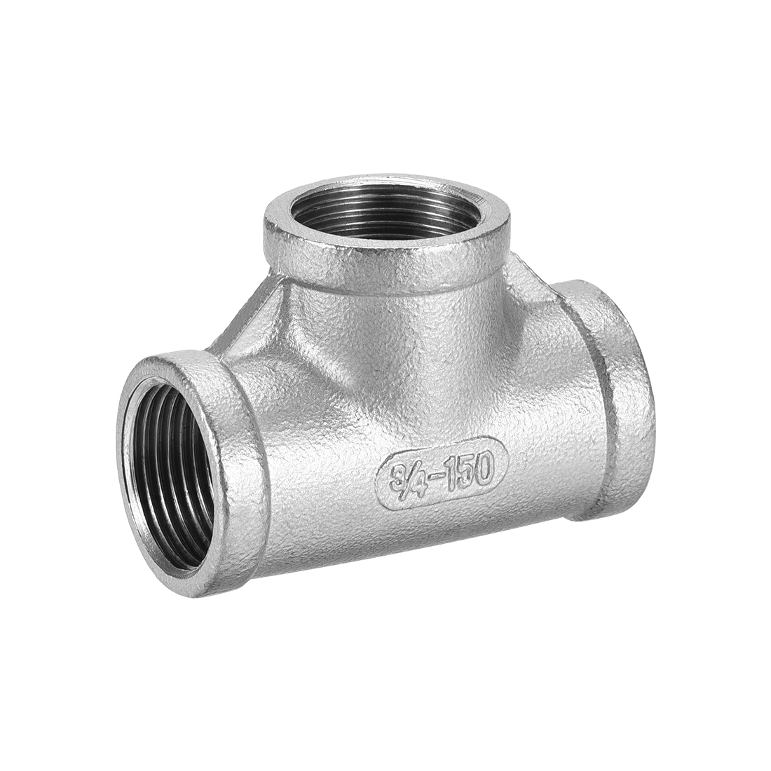Stainless Steel 304 Pipe Fitting 3/4BSPT Female Class 150 Tee Shaped Connector