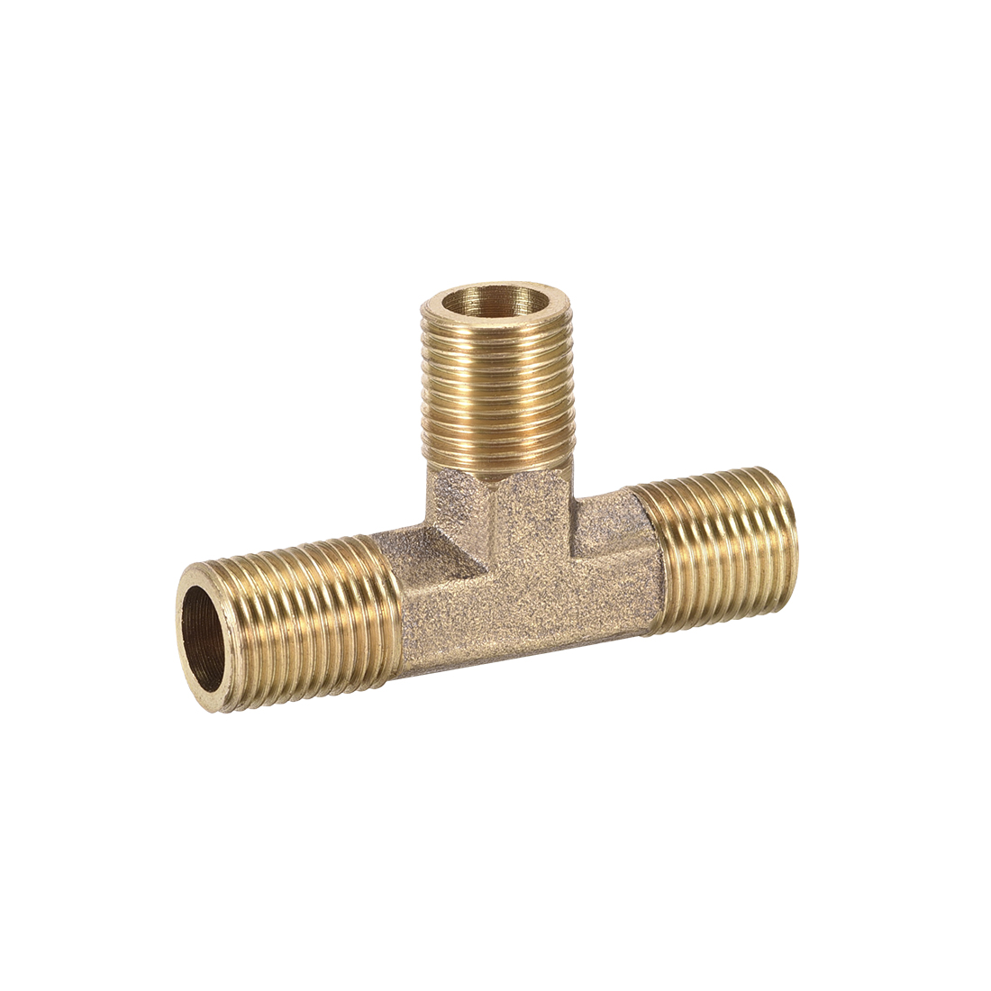 Brass Tee Pipe Fitting 1/8NPT Male Thread T Shaped Connector Coupler